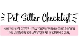 Pet Sitter Checklist